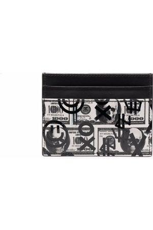 Philipp Plein Men Wallets - Dollar leather cardholder