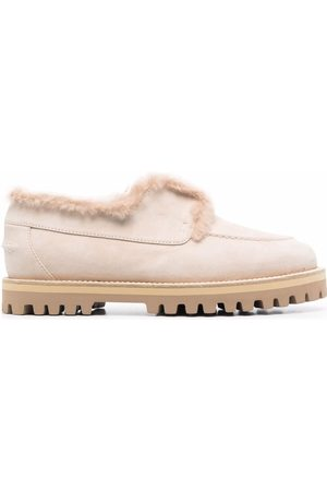 LE SILLA Yacht shearling-lined suede loafers