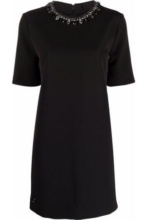 Philipp Plein Crystal-embellished cady dress