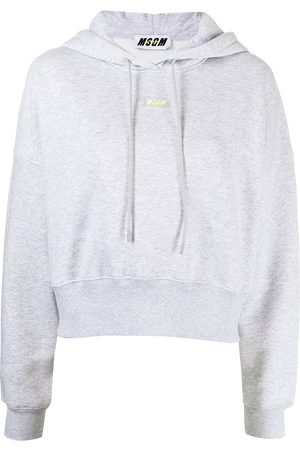 Msgm Cropped cotton hoodie