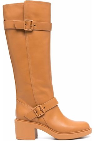 Gianvito Rossi Side-buckle knee-length boots