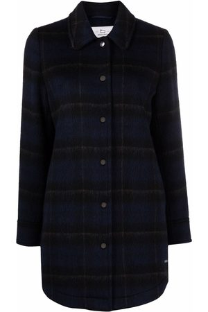 Woolrich Check-print oversized shirt jacket