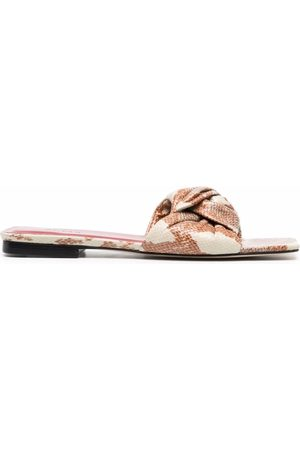 By Far Women Sandals - Snakeskin-print sandals
