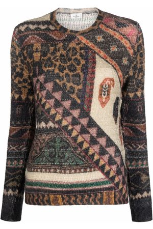 Etro Women Jumpers - Patterned knitted jumper