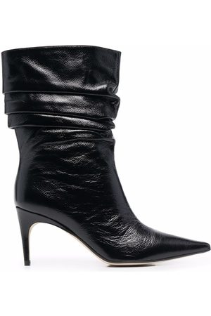 Sergio Rossi Slouchy stiletto leather boots