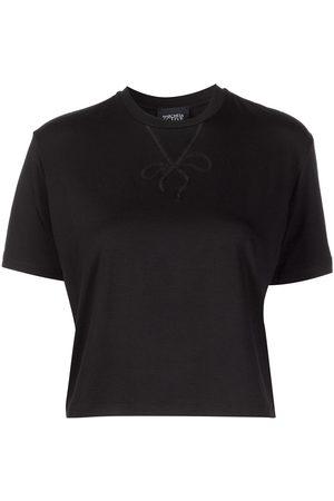Marchesa Notte Dominique cropped jersey T-shirt