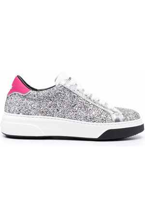 Dsquared2 Women Sneakers - Glittered low-top sneakers