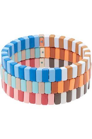 Roxanne Assoulin Half and Half set of three bracelets