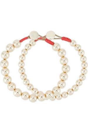 Roxanne Assoulin Bubble set of two metallic bracelets