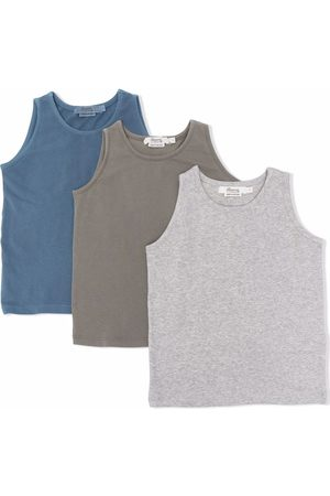 BONPOINT Boys Tank Tops - 3-pack embroidered-logo cotton tank top