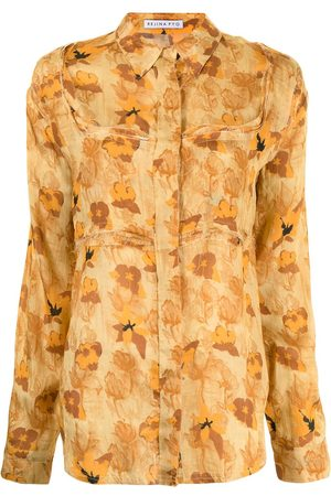 REJINA PYO Floral-print long-sleeved shirt