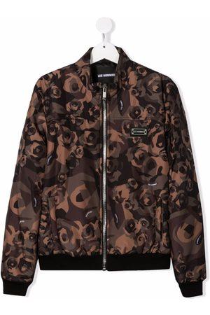 LES HOMMES KIDS Boys Bomber Jackets - TEEN floral print bomber jacket