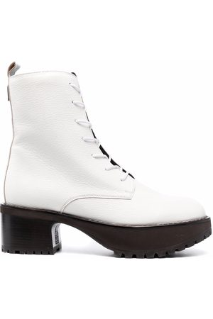 By Far Leather lace-up boots