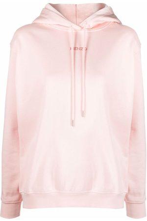 Kenzo Women Hoodies - Logo-print cotton hoodie
