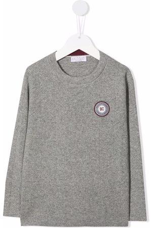 Brunello Cucinelli Chest logo-patch jumper