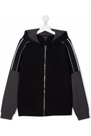 Emporio Armani Debossed-logo detail jacket