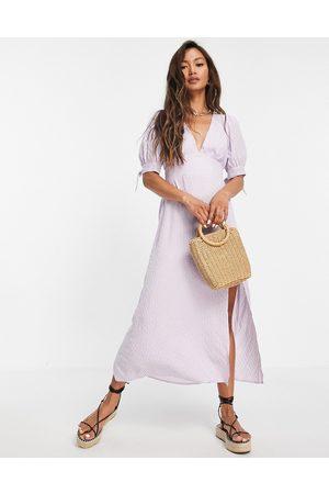 Fashion Union Women Midi Dresses - Midi dress in lilac gingham