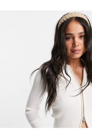 Accessorize Plaited woven headband in -Neutral