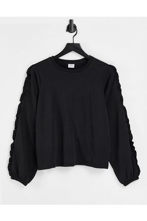 JDY Women Sweatshirts - Frill sweat in