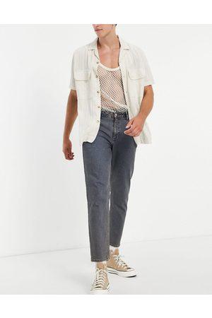 ASOS Men Straight - Classic rigid jeans in vintage dark tinted wash