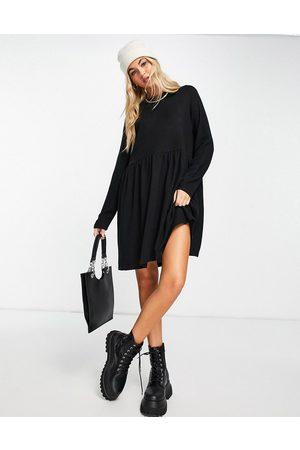 Noisy May Long sleeve smock dress in