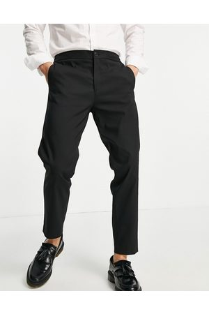 Selected Homme Men Chinos - Smart trousers in slim tapered fit with elasticated waist in