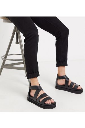 ASOS DESIGN Men Boots - Wide Fit gladiator sandals in leather with chunky sole