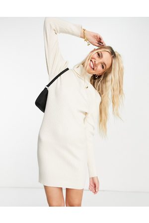 Wednesday's Girl Relaxed jumper dress in rib knit