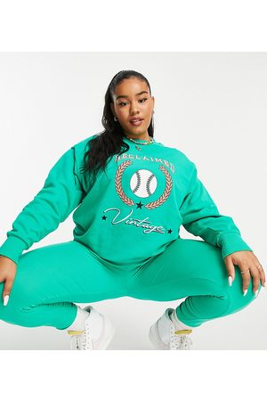 Reclaimed Vintage Women Sets - Inspired plus sweat with baseball print in co-ord