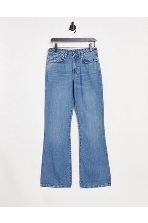 Weekday Sway organic cotton hipster bootcut jeans in 70's