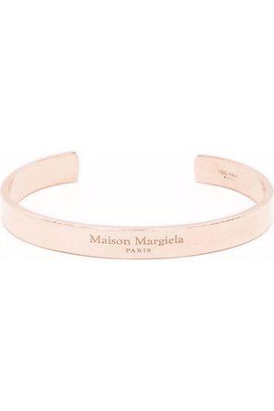 Maison Margiela Women Bracelets - Logo-engraved curved bangle
