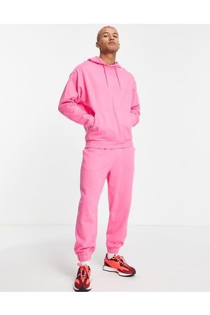 ASOS DESIGN Men Sports Sweatshirts - Organic tracksuit with oversized hoodie and oversized joggers in