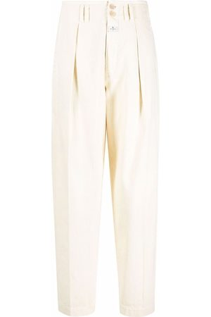 Etro Women Pants - Pleat-detail high waisted trousers