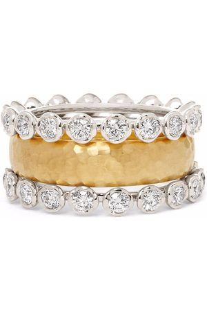 ANNOUSHKA 18kt gold Organza and Marguerite diamond eternity ring