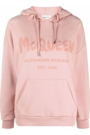 Alexander McQueen Logo-print cotton hoodie