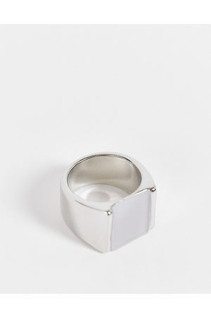 ASOS Men Rings - Signet ring with frosted resin in tone