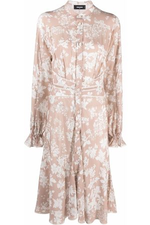 Dsquared2 Floral-print belted shirtdress