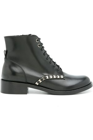 Salvatore Ferragamo Women Lace-up Boots - Vara Chain lace-up boots