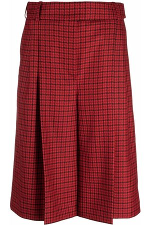 ALEXANDRE VAUTHIER Women Culottes - Pleated check culottes