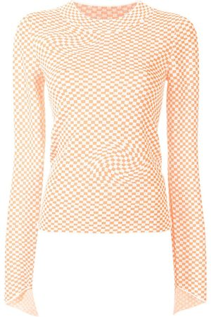 PORTSPURE Checked long-sleeve jumper