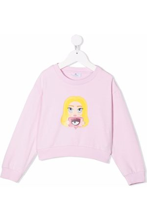 Chiara Ferragni Girls Sweatshirts - Chiara Mascot-motif sweatshirt
