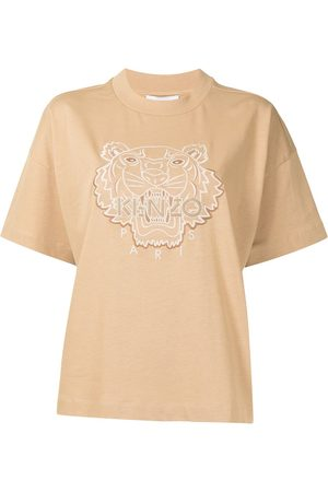 Kenzo Women Short Sleeve - Tiger-embroidered T-shirt