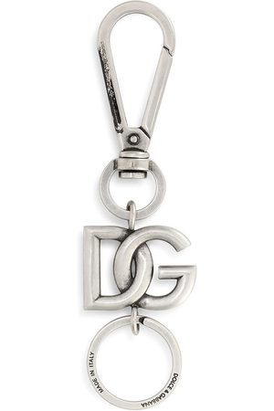 Dolce & Gabbana Men Keychains - Logo-plaque -tone keyring