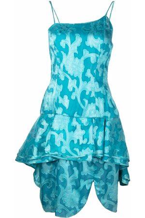 A.N.G.E.L.O. Vintage Cult 1980s asymmetric straps layered dress