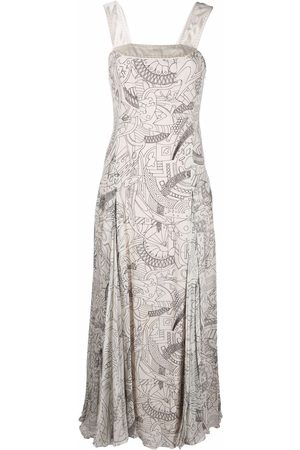A.N.G.E.L.O. Vintage Cult 2000s sketch-printed flared maxi dress
