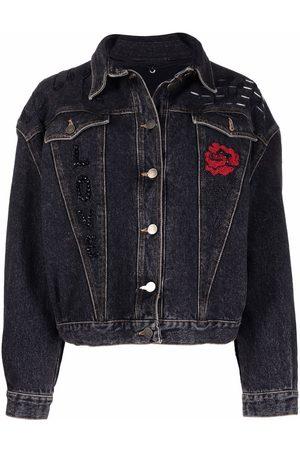 A.N.G.E.L.O. Vintage Cult 1980s bead-embellished denim jacket