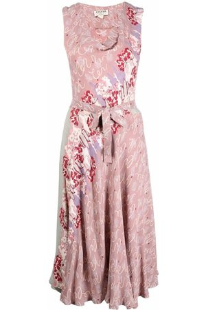 A.N.G.E.L.O. Vintage Cult 1990s abstract print flared midi-dress