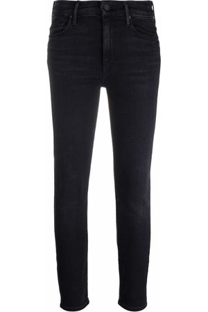 Mother High-waist cropped skinny jeans