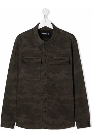 Dondup TEEN camouflage-print overshirt