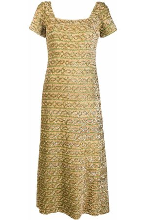 A.N.G.E.L.O. Vintage Cult 1960s short-sleeved sequinned maxi dress